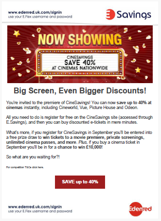 Edenred CineSavings Product Launch