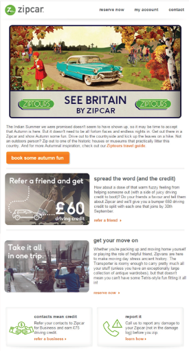 Zipcar UK E-Newsletter